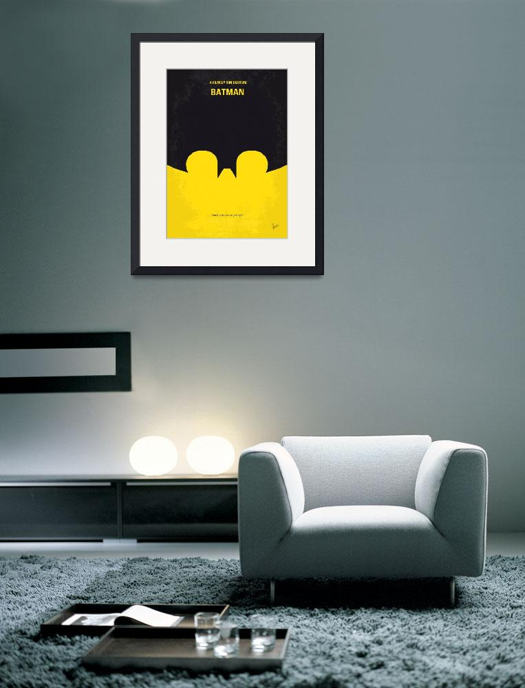 """No008 My Batman minimal movie poster&quot  by Chungkong"