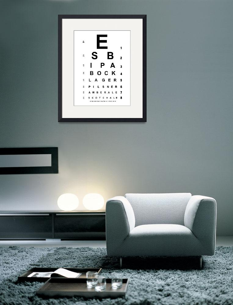 """Beer Eye Chart&quot  (2014) by nealw6971"