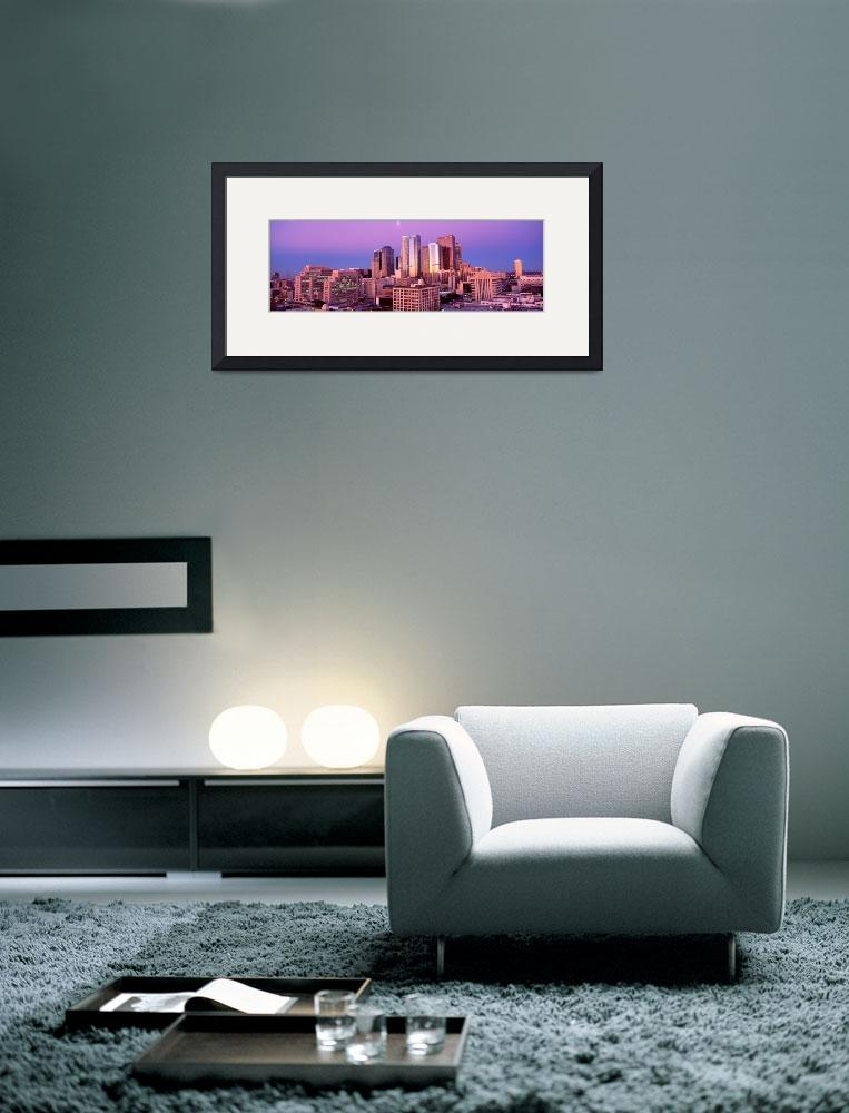 """Dawn Skyline Los Angeles CA&quot  by Panoramic_Images"