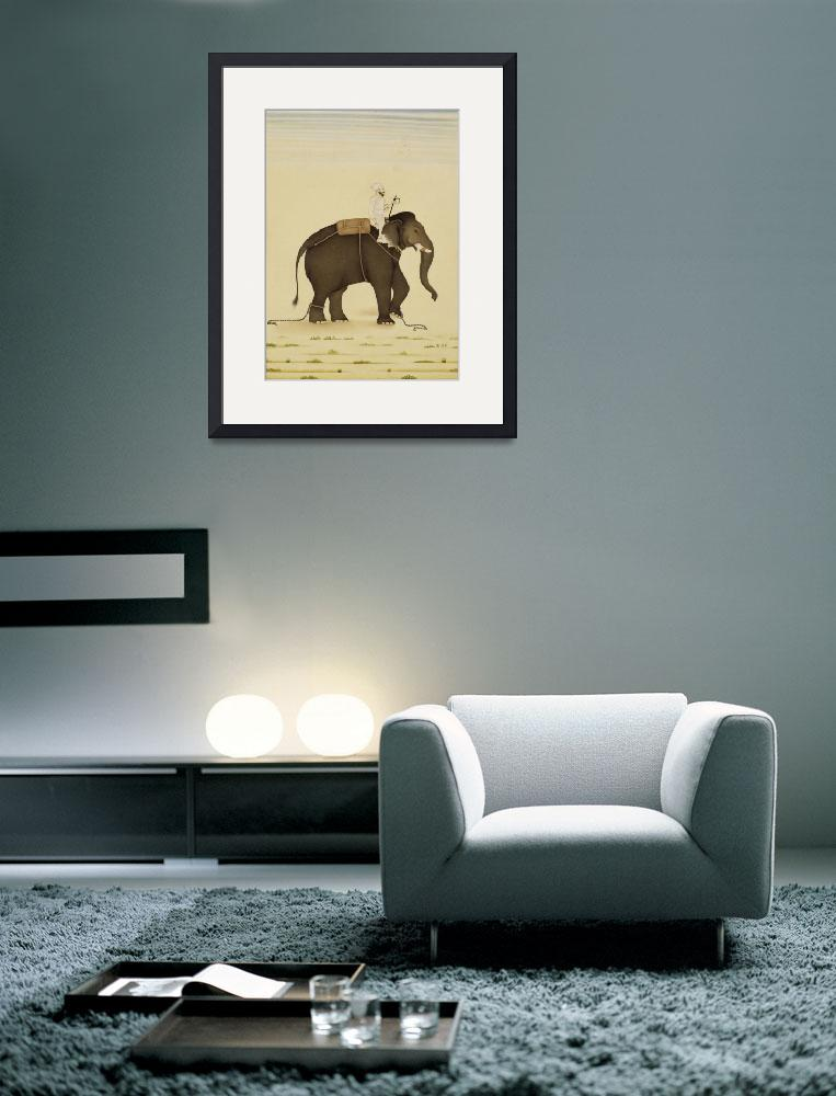"""Mahout Riding an Elephant Painting (18th Century)&quot  by Alleycatshirts"