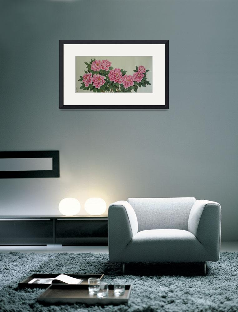 """The Beautiful Pink Peony&quot  (2010) by petersuksinchan"