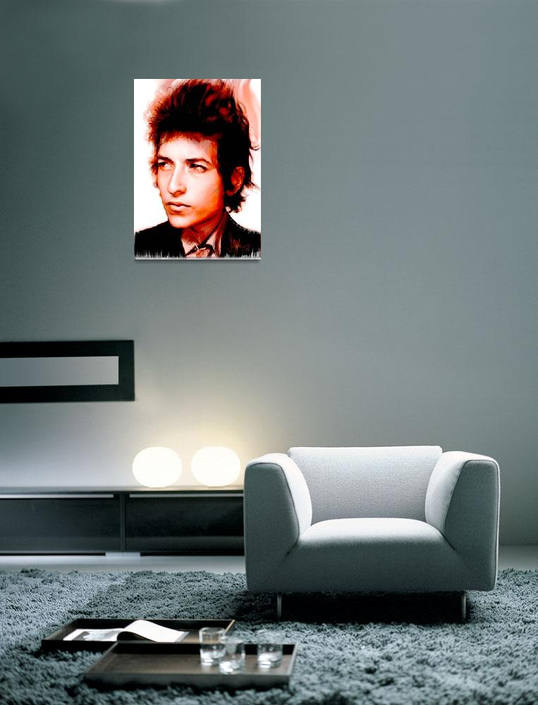 """bob dylan&quot  by paulshipper"