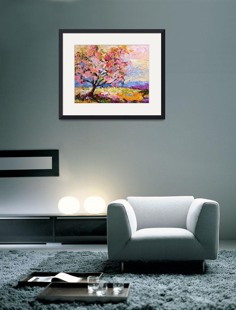 """Pink Blossom Tree Oil Painting by Ginette Callaway&quot  (2008) by GinetteCallaway"