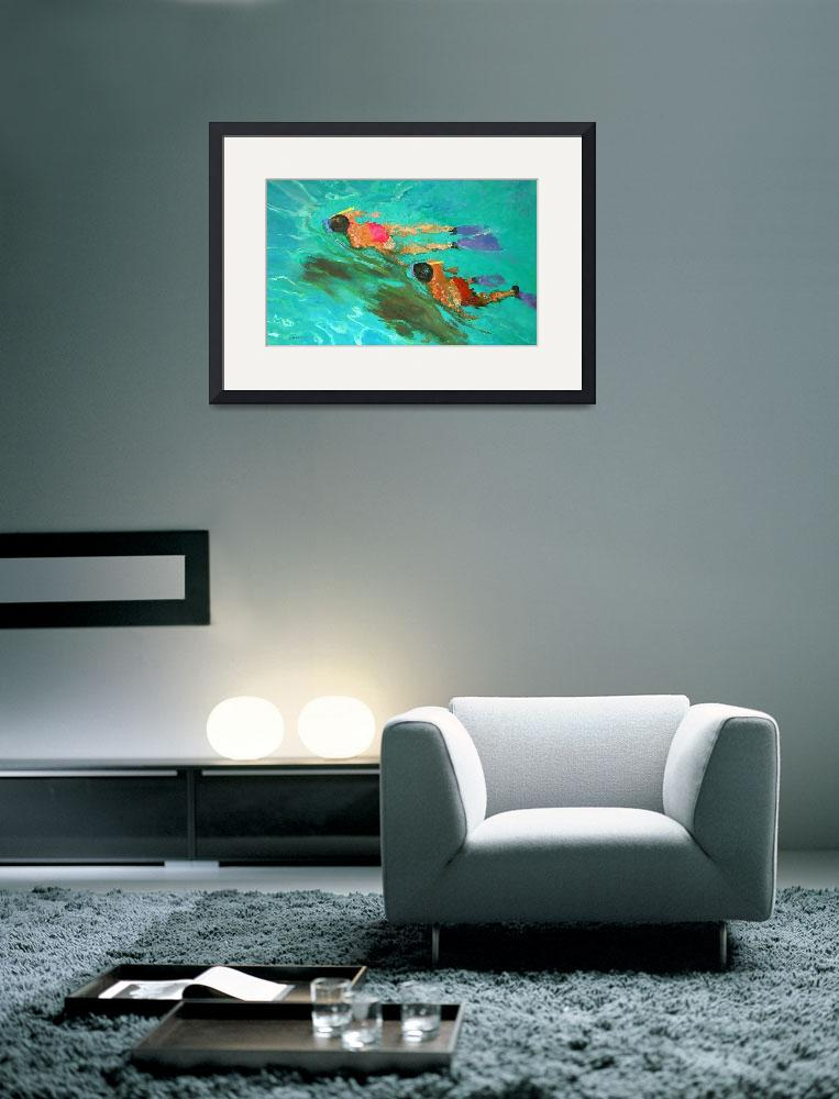 """Snorkellers by William Ireland&quot  by fineartmasters"