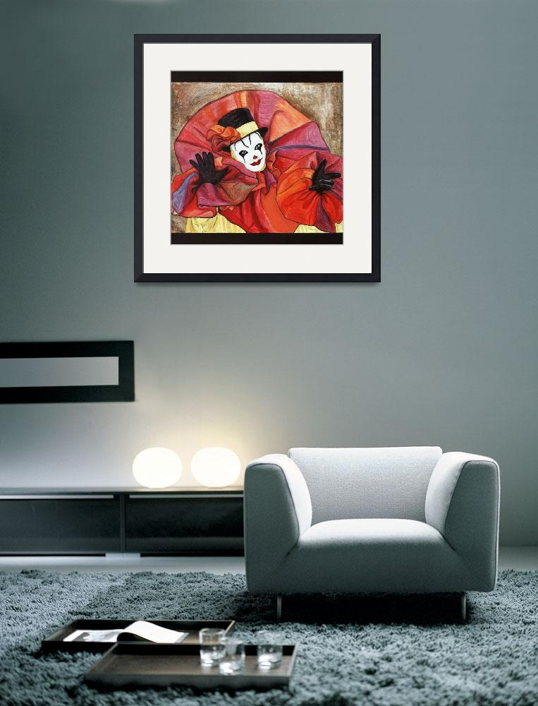 """Carnival Clown Painting&quot  (2008) by psovart"