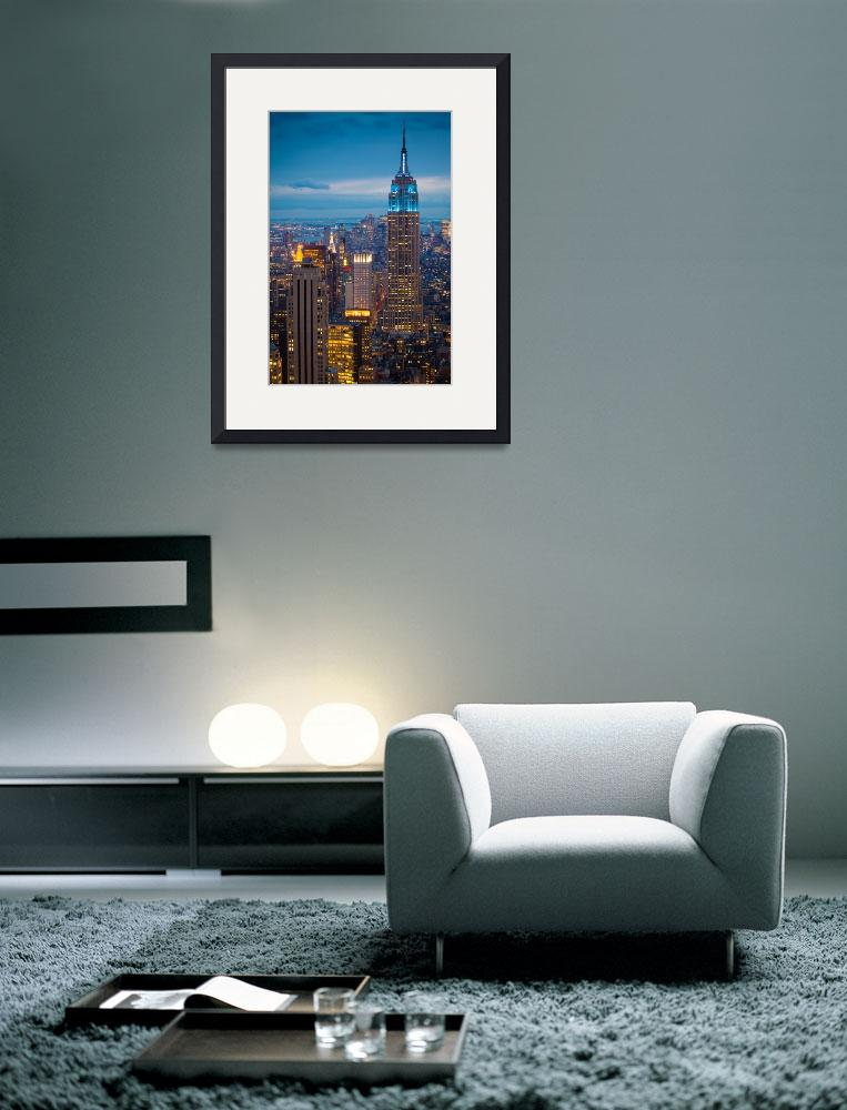 """Empire State Blue Night&quot  (2011) by Inge-Johnsson"