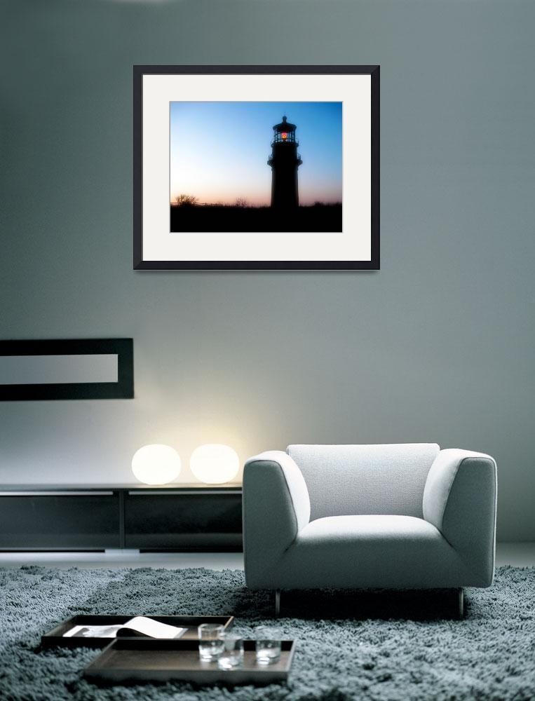 """Aquinnah Lighthouse Silouette&quot  (2008) by ChrisSeufert"
