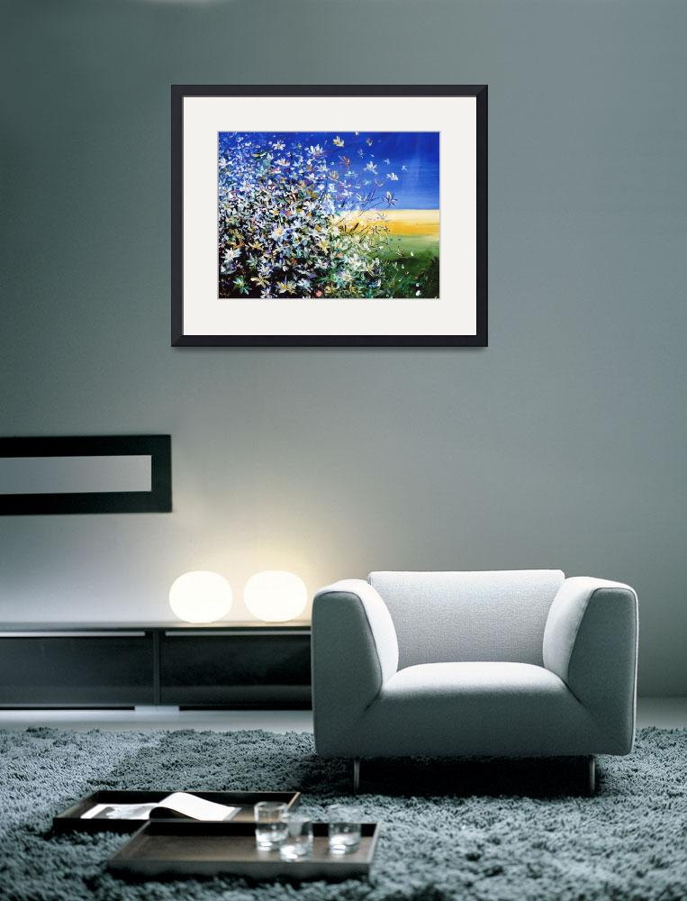"""Wild Daisies - Floral Painting By M. Zampedroni&quot  (2008) by zampedroni"