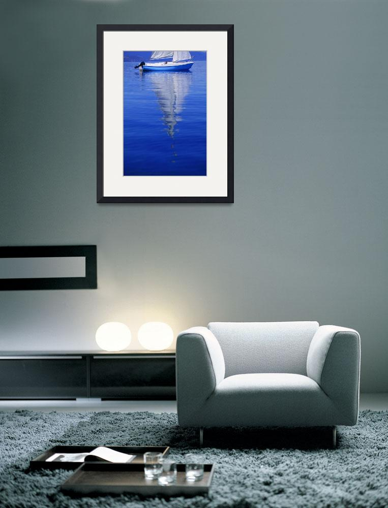 """Sailboat On Water&quot  by DesignPics"
