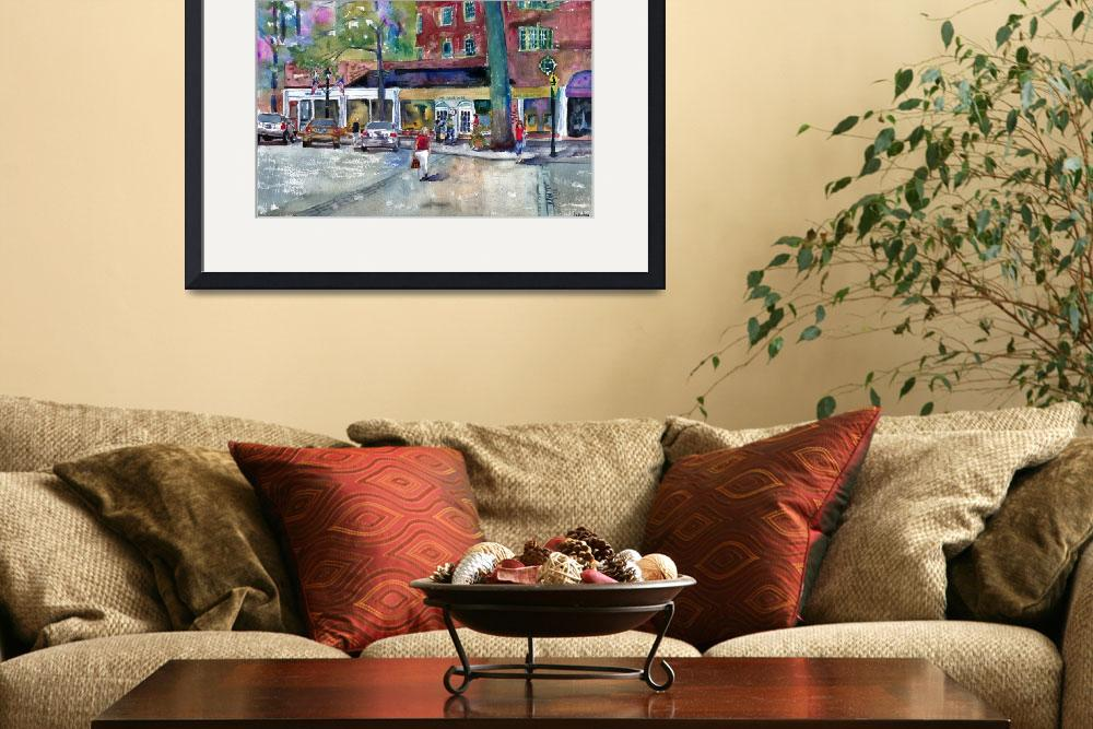 """Summer Visions, Scarsdale Street Scene Landscape&quot  by schulmanart"