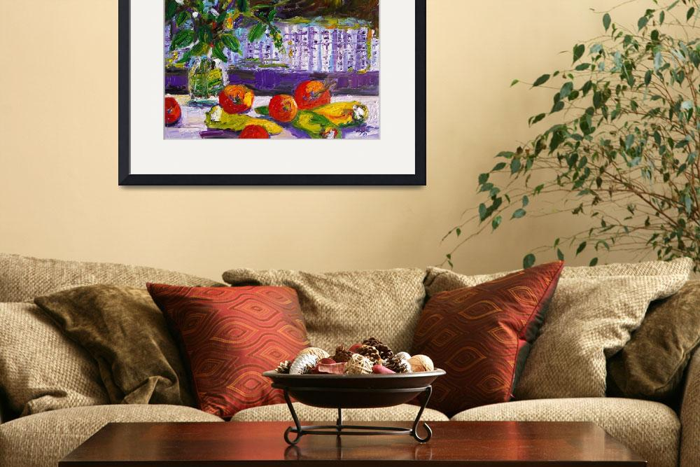 """Gifts From My Garden Oil Painting by Ginette&quot  (2010) by GinetteCallaway"