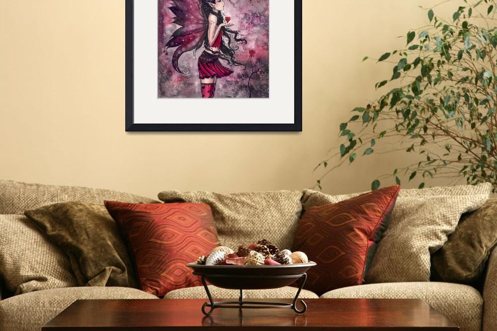 """Hearts Red Heart Fairy Fantasy Art Print by Molly&quot  by robmolily"