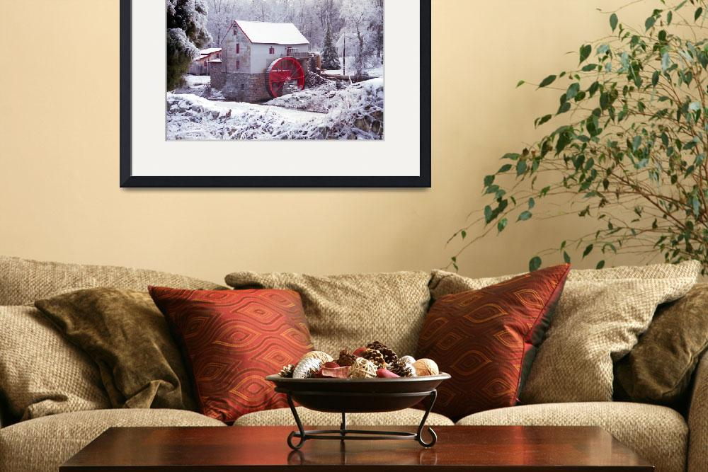 """Snow at the Old Mill&quot  (1998) by PadgettGallery"