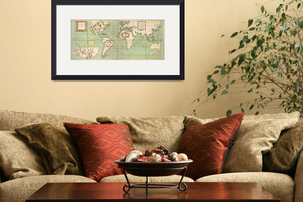 """Vintage Map of The World (1702)&quot  by Alleycatshirts"