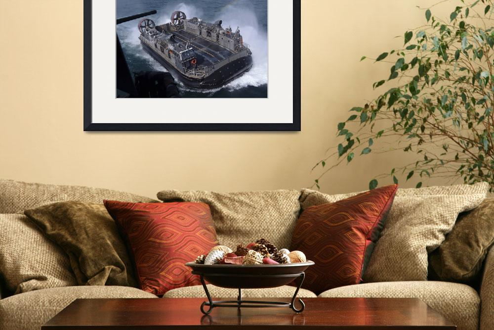 """Landing Craft Air Cushion hovercraft&quot  by stocktrekimages"