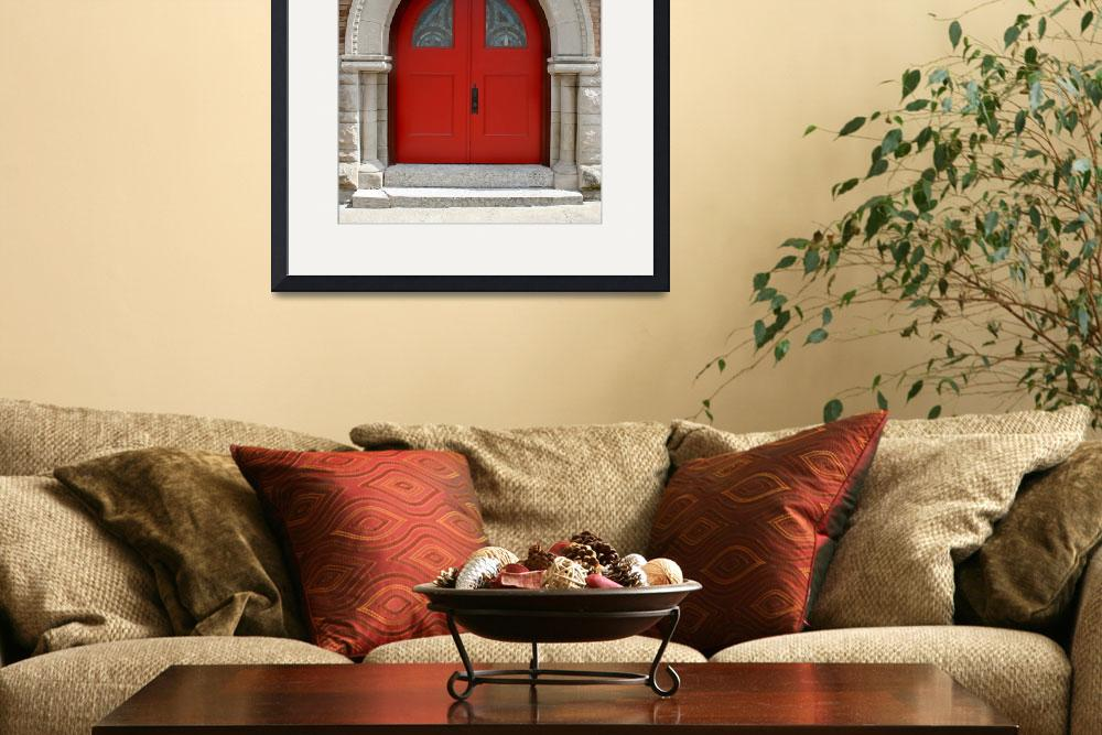 """Red Church Doors&quot  (2013) by KsWorldArt"