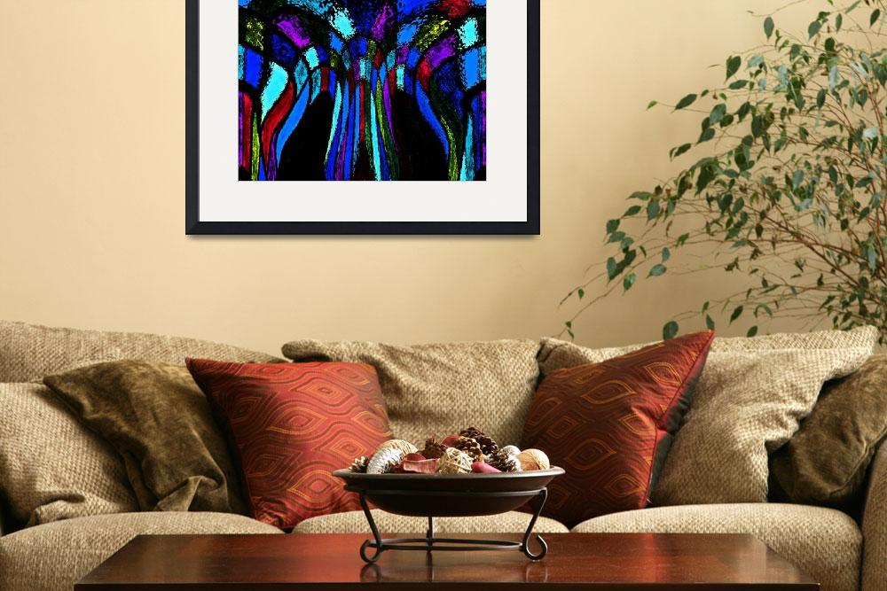 """Colors and Black Flow&quot  (2012) by KsWorldArt"