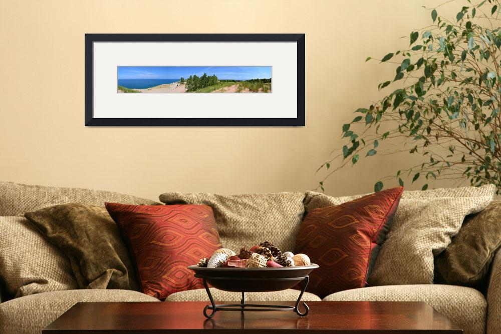 """Sleeping Bear Dunes Panorama&quot  (2013) by Michelle1991"