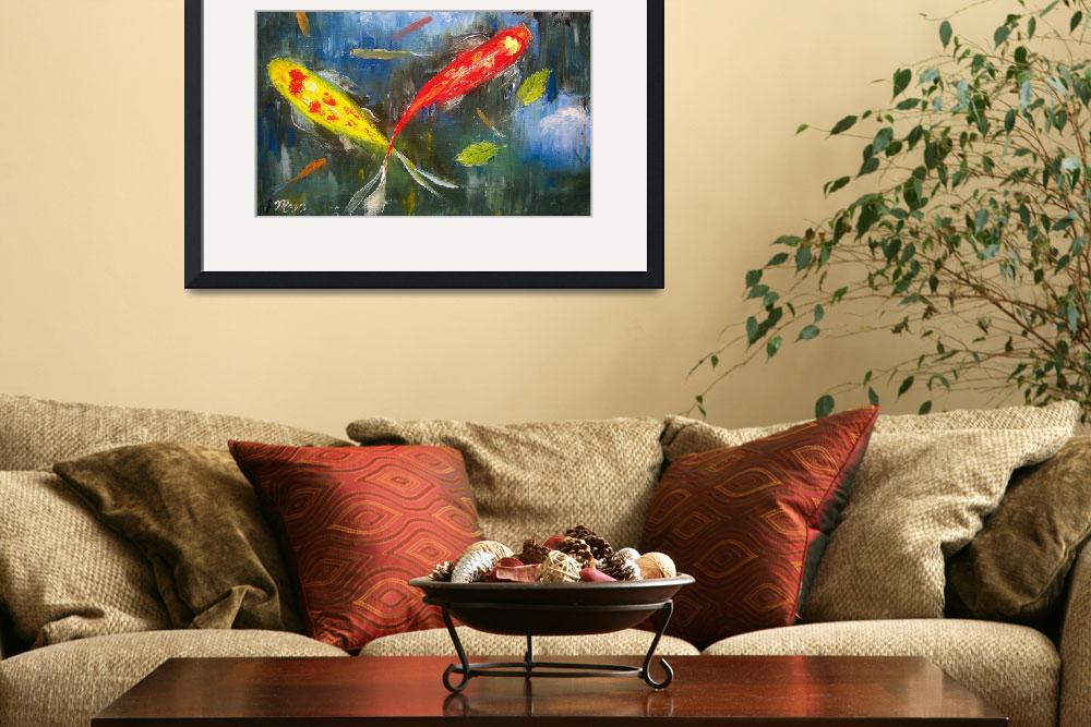 """Koi Fish Pond Reflections&quot  (2009) by mazz"