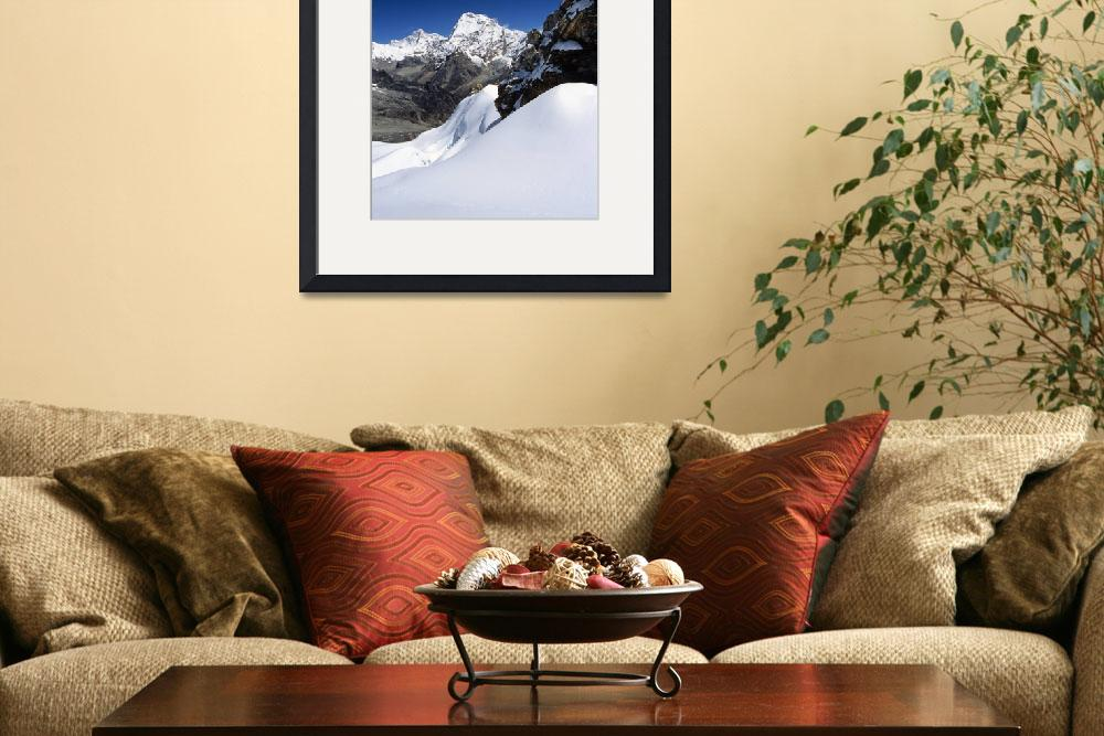 """Makalu and Chamlang, Nepal Himalaya&quot  by rowan-castle"