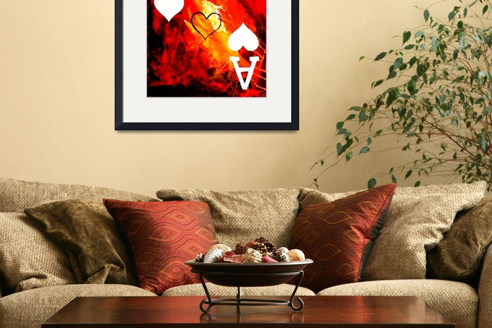 """ABSTRACT GALAXY ACES POKER ART OF HEARTS&quot  by teofaith"