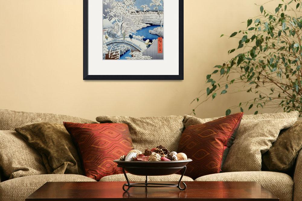 """Winter Landscape (woodblock print)&quot  by fineartmasters"