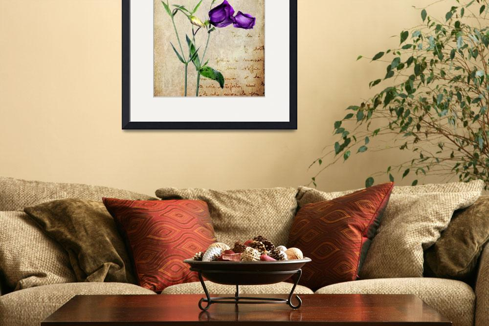 """Vintage - Lisianthus&quot  (2013) by Reflections"
