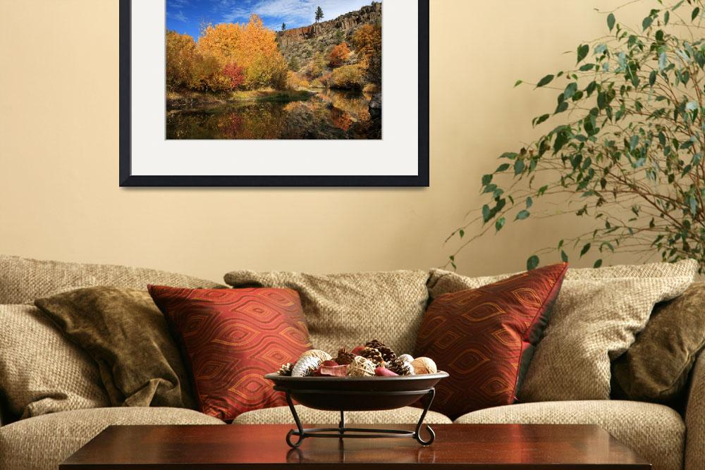 """Autumn Reflections In The Susan River Canyon&quot  (2010) by jameseddy"