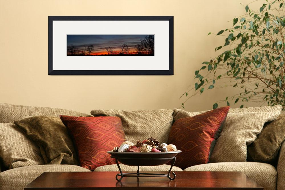 """April Dawn Sky Panorama&quot  (2010) by jimcrotty"