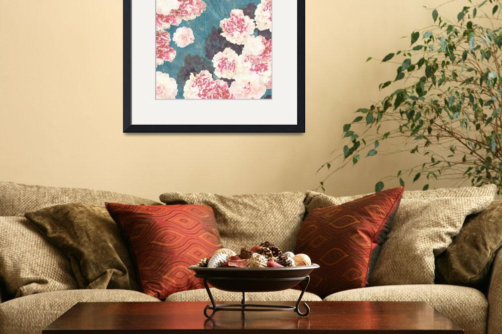 """Night Peonies Blue&quot  by cozamia"