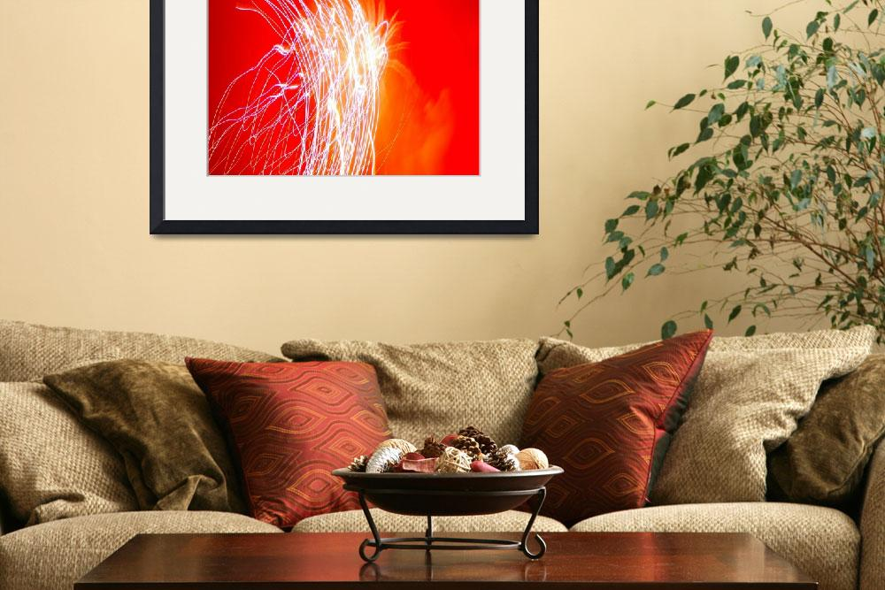 """Fireworks Abstract, Red&quot  by mildlydiverting"