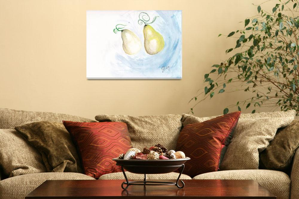 """Two Pear&quot  (2008) by mollyblaisdell"