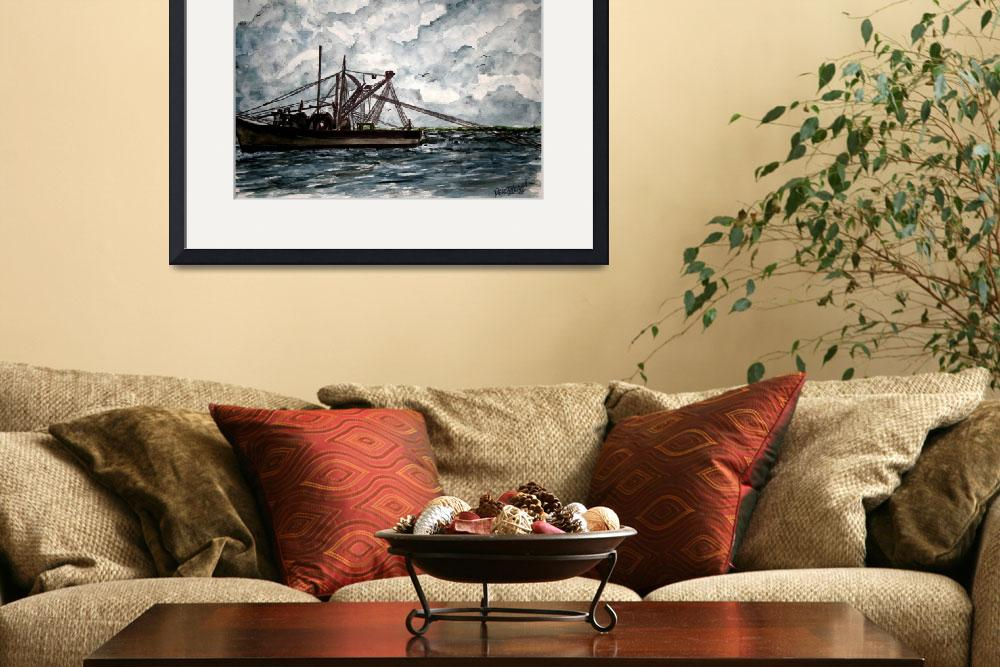 """shrimp boat 2 painting&quot  (2009) by derekmccrea"