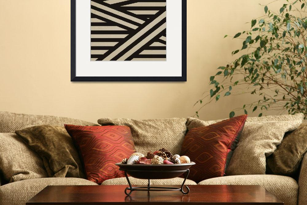 """Black and White Stripes Bandage Print&quot  (2012) by Charlene_McCoy"