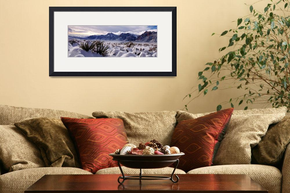 """Red Rock Snow, Panoramic No. 3&quot  (2008) by PadgettGallery"