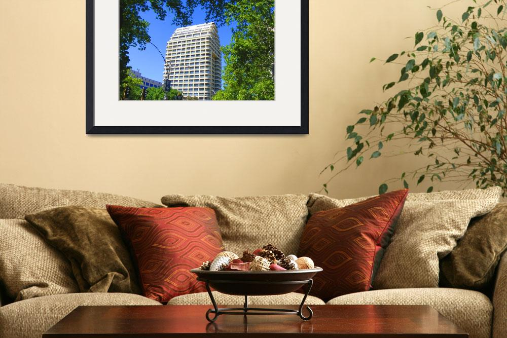 """Building framed by foliage 0524&quot  (2008) by davidflurkey"