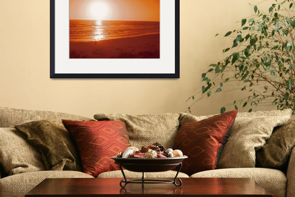 """California Beach Sunset&quot  (2012) by kenrainwaterphotography"