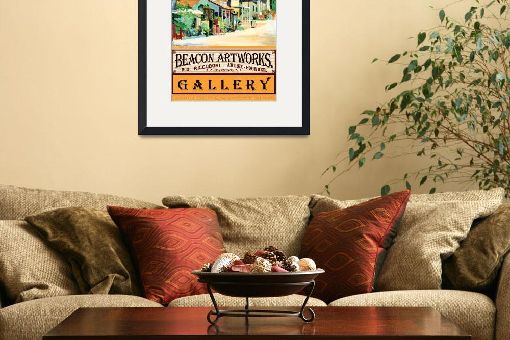 """Beacon Artworks Gallery Calhoun Street Poster&quot  (2008) by BeaconArtWorksCorporation"