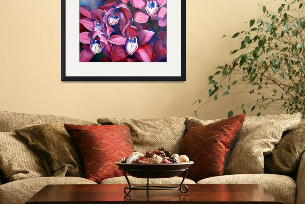 """Orchid Crowd&quot  (2009) by ArtbyMarionHedger"