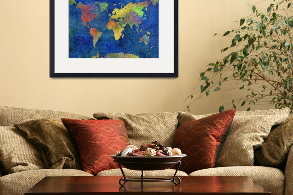 """World Map&quot  (2012) by CoraNiele"