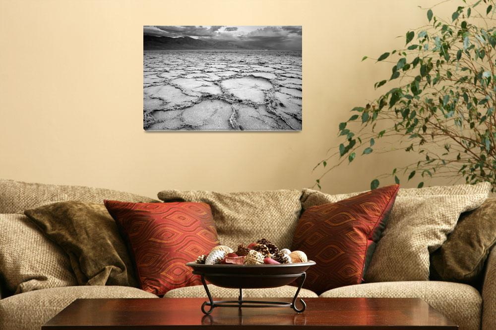"""Badwater - Death Valley Desert Landscape&quot  (2008) by miir"