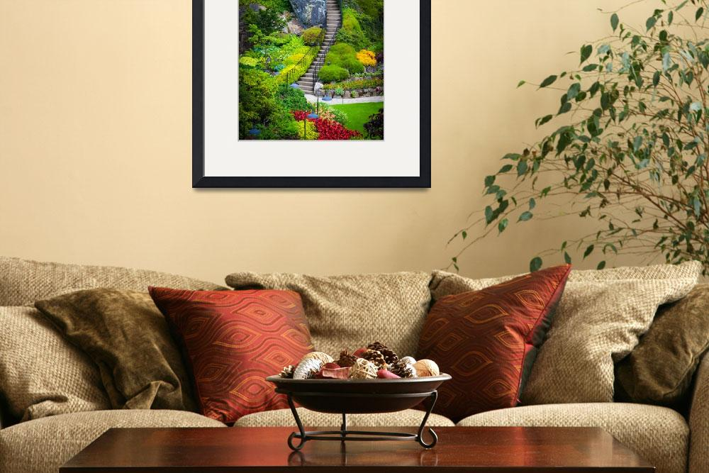 """Butchart Gardens Stairs&quot  (2011) by Inge-Johnsson"