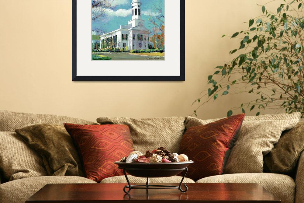 """Church in New Canaan, Connecticut&quot  (2005) by RDRiccoboni"