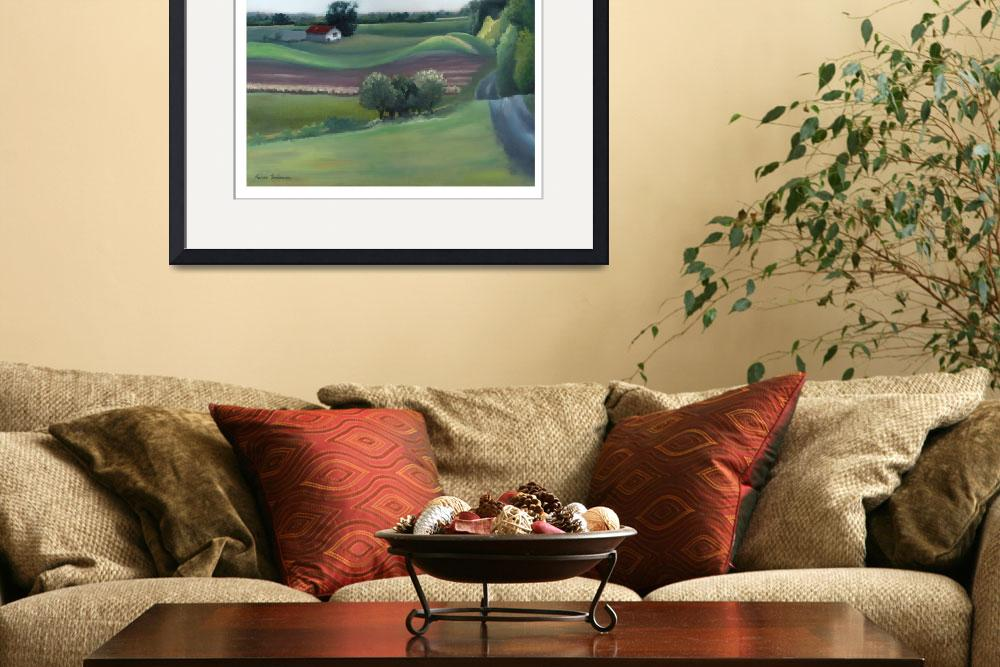 """Late Summer Fields&quot  (2007) by LAFineArt"