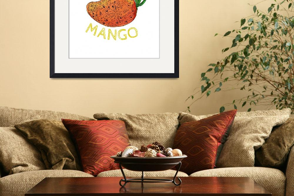 """Mango Juicy Fruit Mandala&quot  (2016) by patrimonio"