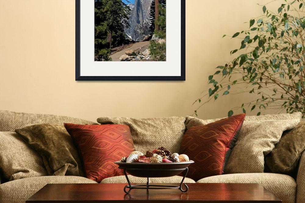 """Half Dome Seen Through the Forest&quot  (2008) by Tom_Debley"