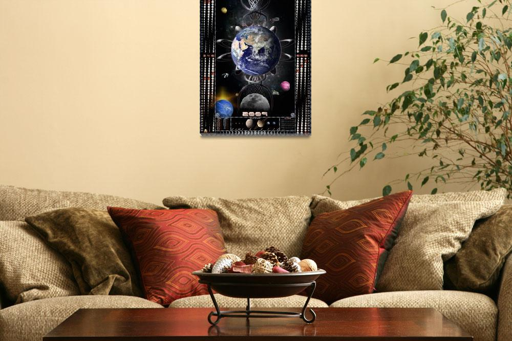 """Moon calendar 2009 Galaxy&quot  (2009) by Galactikconnections"
