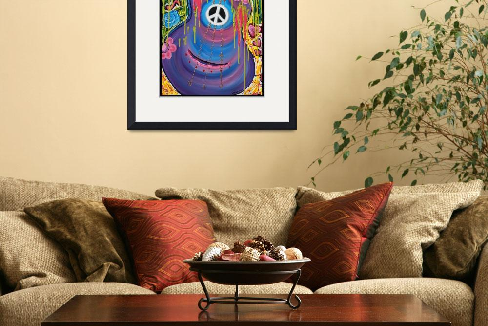 """Peace Guitar&quot  (2012) by ArtPrints"