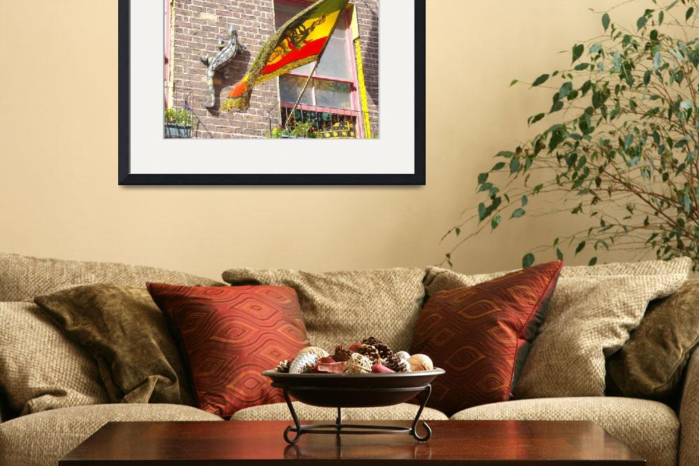"""lizard and rasta flag....&quot  by bevansusan"