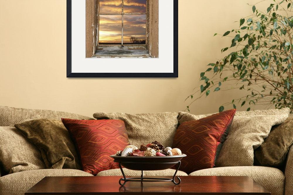 """Rustic Window Colorful Sky View&quot  (2012) by lightningman"
